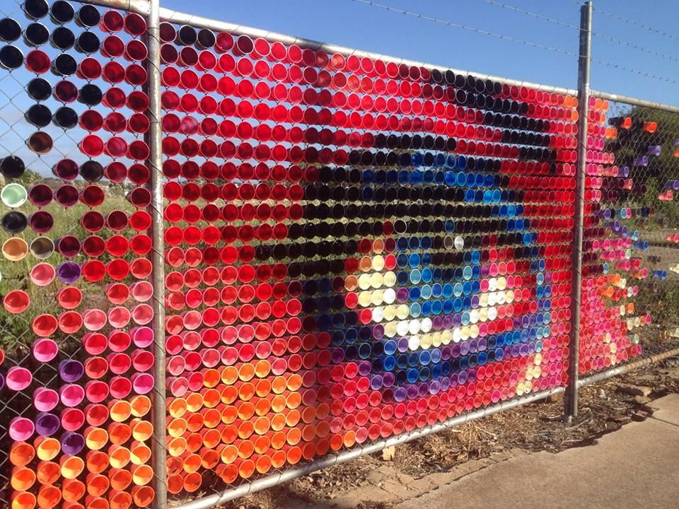 Cup Art, East Street Brompton, Adelaide SA — with Discover Adelaide at East St Mural Wall_